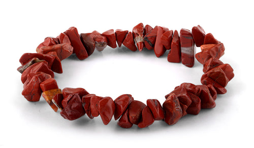 Chips Red Jasper Elastic Bracelet
