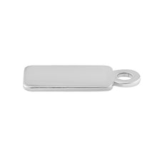 Load image into Gallery viewer, Sterling Silver Large Name Tag with Ring - PACK OF 10