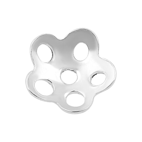 Sterling Silver Bead Cap Perforated Flower 5mm - PACK OF 25