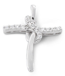 Sterling Silver Cross CZ Pendant