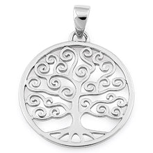 Load image into Gallery viewer, Sterling Silver Large Tree of Life Pendant