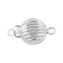 Load image into Gallery viewer, Sterling Silver Pearl Clasp 8mm