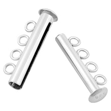 Load image into Gallery viewer, Sterling Silver Tube Clasp 26mm