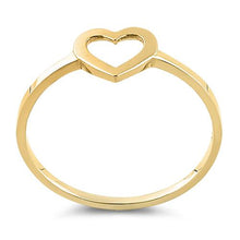 Load image into Gallery viewer, Solid 14K Yellow Gold Heart Outline Ring