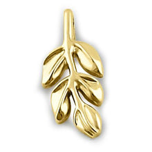 Load image into Gallery viewer, Solid 14K Yellow Gold Branch Pendant