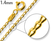 Load image into Gallery viewer, 14K Gold Plated Sterling Silver Long Curb Chain 1.4MM