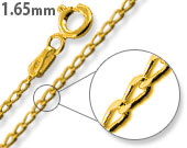 Load image into Gallery viewer, 14K Gold Plated Sterling Silver Long Curb Chain 1.65MM