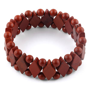 Princess Style Red Jasper Gemstone Bracelet