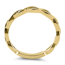 Load image into Gallery viewer, Solid 14K Yellow Gold Eternity Twist  0.10 ct. Diamond Ring