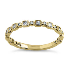 Load image into Gallery viewer, Solid 14K Yellow Gold Alternating 0.27 ct. Diamond Ring