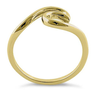 Sterling Silver Gold Plated Ocean Wave Ring