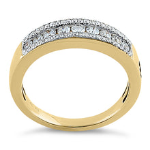 Load image into Gallery viewer, Solid 14K Yellow Gold Bold 0.50 ct. Diamond Band