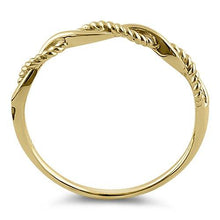Load image into Gallery viewer, Solid 14K Yellow Gold Twisted Rope Ring