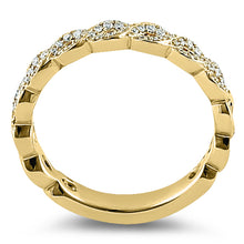 Load image into Gallery viewer, Solid 14K Yellow Gold Elegant Twist  0.10 ct. Diamond Band