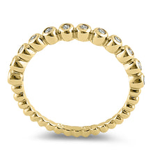 Load image into Gallery viewer, Solid 14K Yellow Gold  0.05 ct. Diamond Bead Ring