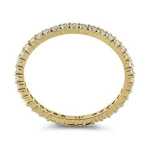 Solid 14K Yellow Gold Eternity CZ Ring