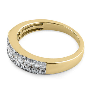 Solid 14K Yellow Gold Bold 0.50 ct. Diamond Band
