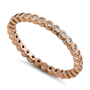 Rose Gold Eternity Stackable CZ Ring