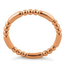 Load image into Gallery viewer, Rose Gold Plated Stackable Bead and Bar Ring