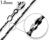 Load image into Gallery viewer, Black Rhodium Sterling Silver Twisted Serpentine Chain 1.0MM
