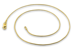 14K Gold Plated Sterling Silver Snake Chain 0.9MM