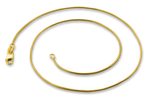 14K Gold Plated Sterling Silver Snake Chain 1.1MM