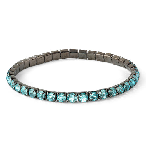 Soft Apatite Glass Elastic Tennis Bracelet