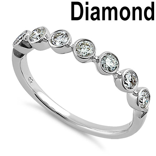 Solid 14K White Gold 0.50 ct. Diamond Ring