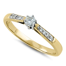 Load image into Gallery viewer, Solid 14K Yellow Gold Dainty  0.05 ct. Diamond Ring