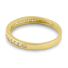 Load image into Gallery viewer, Solid 14K Yellow Gold Half Eternity Wedding Band