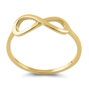 Solid 14K Yellow Gold Infinity Ring