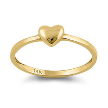Load image into Gallery viewer, Solid 14K Yellow Gold Puffy Heart Ring