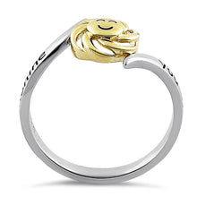 "Load image into Gallery viewer, Solid 14K Yellow Gold & Sterling Silver ""You Are My Sunshine, My Only Sunshine"" Ring"