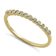 Load image into Gallery viewer, Solid 14K Yellow Gold Twist 0.15 ct. Diamond Band