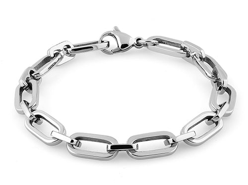 Stainless Steel Cable Chain Link Bracelet