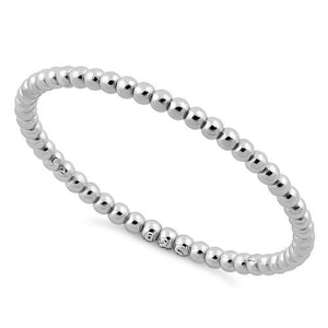 Sterling Silver 1.5mm Stackable Bead Ring