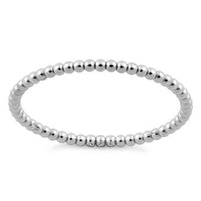 Load image into Gallery viewer, Sterling Silver 1.5mm Stackable Bead Ring