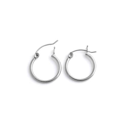 Sterling Silver 1.5MM x 16MM Loop Earrings