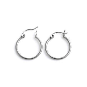 Sterling Silver 1.5MM x 20MM Loop Earrings
