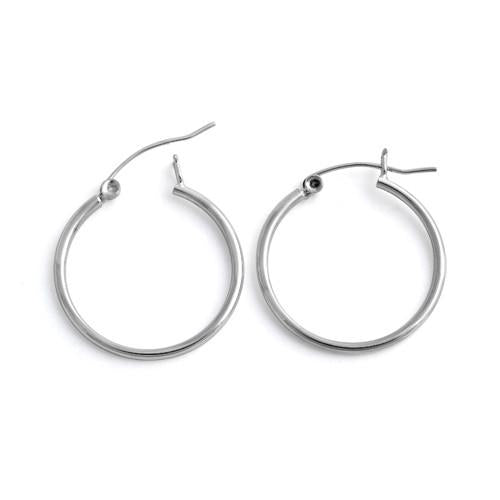Sterling Silver 1.5MM x 25MM Loop Earrings