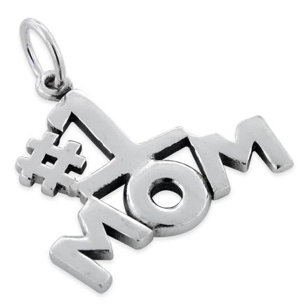 Sterling Silver #1 Mom Pendant