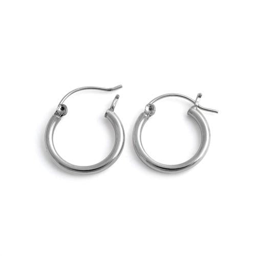 Sterling Silver 2.5MM x 20MM Loop Earrings
