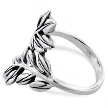 Load image into Gallery viewer, Sterling Silver 2 Leaves Ring
