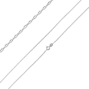 "Sterling Silver 20"" Forz D/C Chain Necklace - 0.95mm"