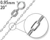 "Load image into Gallery viewer, Sterling Silver 20"" Forz D/C Chain Necklace - 0.95mm"