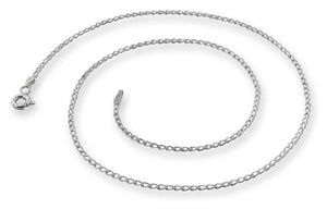 Sterling Silver Long Curb Chain Necklace - 1.2mm
