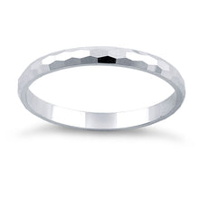 Load image into Gallery viewer, Sterling Silver 2MM Hammered Ring
