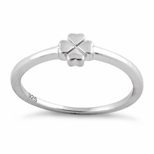Load image into Gallery viewer, Sterling Silver 4 Heart Clover Shape Ring