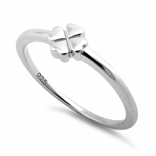 Sterling Silver 4 Heart Clover Shape Ring