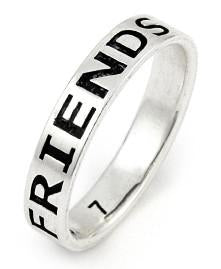 Sterling Silver 4mm Friends Forever Ring